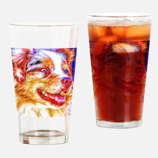 Unique Aussie shepherd Drinking Glass