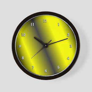 Yellow and Black Clock Wall Clock