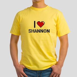 I Love Shannon Digital Retro Design T-Shirt