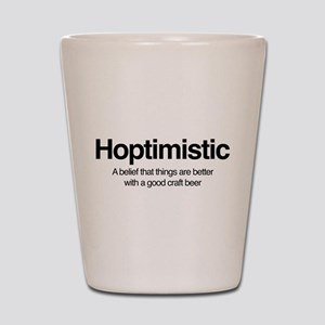 Hoptimistic Shot Glass