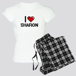 I Love Sharon Digital Retro Women's Light Pajamas