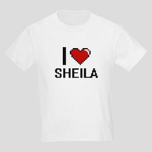 I Love Sheila Digital Retro Design T-Shirt