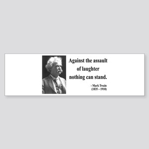 Mark Twain 22 Bumper Sticker