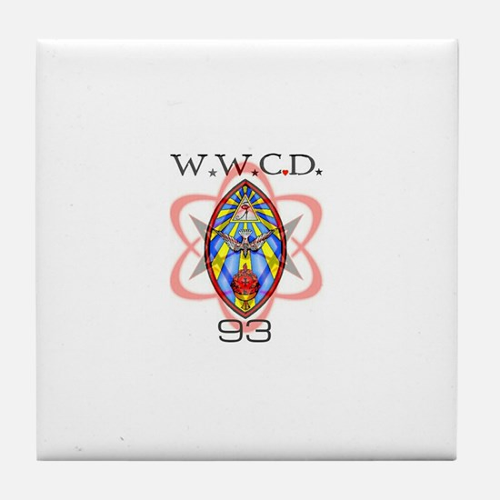 wwcd2heart Tile Coaster