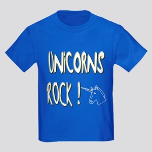Unicorns Rock ! Kids Dark T-Shirt