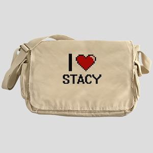 I Love Stacy Digital Retro Design Messenger Bag