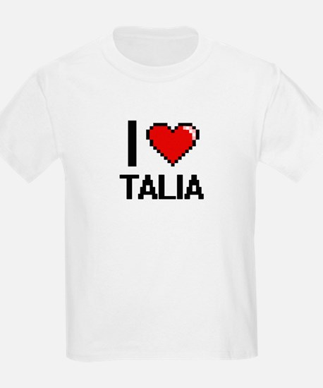 I Love Talia Digital Retro Design T-Shirt