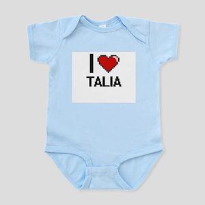 I Love Talia Digital Retro Design Body Suit