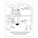 Goat Cartoon 9251 Small Poster