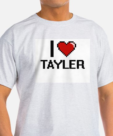 I Love Tayler Digital Retro Design T-Shirt