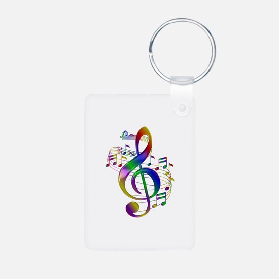 Colorful Treble Clef Keychains
