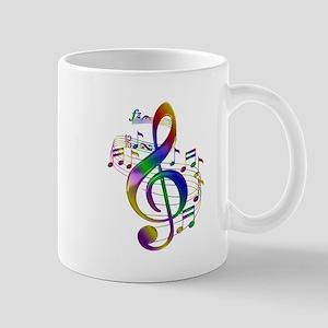 Colorful Treble Clef 11 oz Ceramic Mug