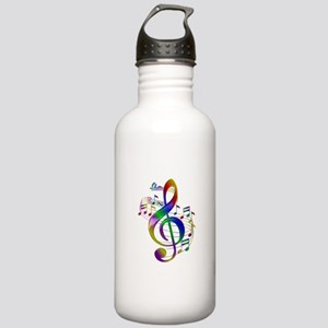 Colorful Treble Clef Stainless Water Bottle 1.0L