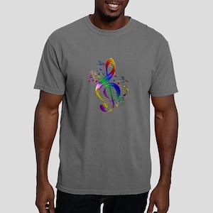 Colorful Treble Clef Mens Comfort Colors Shirt