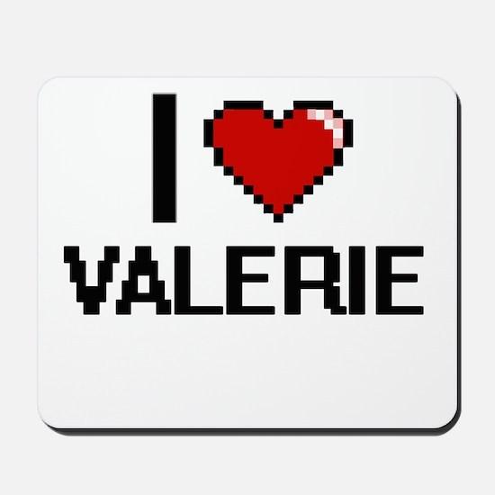 I Love Valerie Digital Retro Design Mousepad