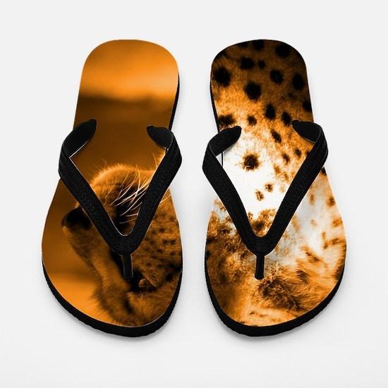 Funny Cheetah Flip Flops
