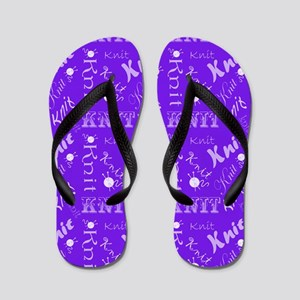 Purple Lavender Knit Flip Flops