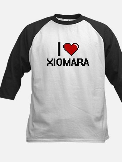 I Love Xiomara Digital Retro Desig Baseball Jersey
