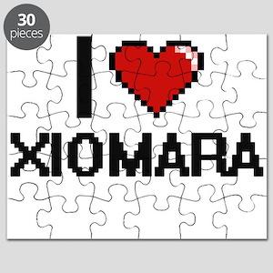 I Love Xiomara Digital Retro Design Puzzle