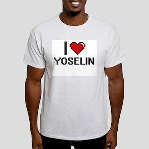 I Love Yoselin Digital Retro Design T-Shirt