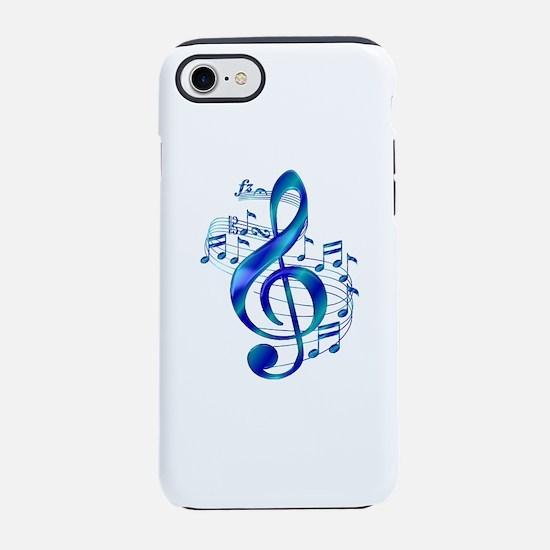 Blue Treble Clef iPhone 7 Tough Case