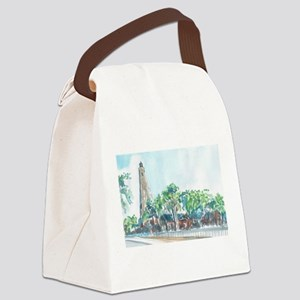 Old Baldy Lighthouse Canvas Lunch Bag