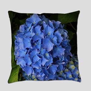 Blue hydrangea flowers 2 Everyday Pillow