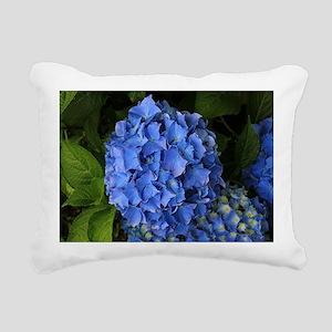 Blue hydrangea flowers 2 Rectangular Canvas Pillow