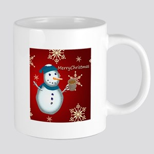 Merry Christmas Snowman Mugs
