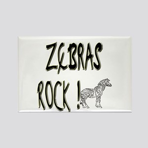 Zebras Rock ! Rectangle Magnet