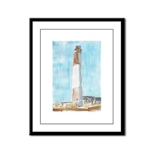 Oak Island Lighthouse Framed Panel Print