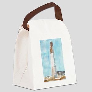 Oak Island Lighthouse Canvas Lunch Bag