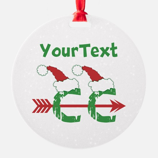 Customize © Cross Country Xmas Ornament