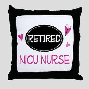 Retired NICU Nurse Throw Pillow