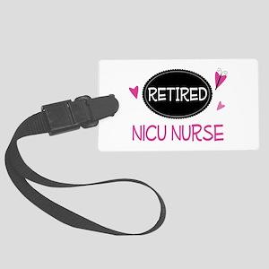 Retired NICU Nurse Large Luggage Tag