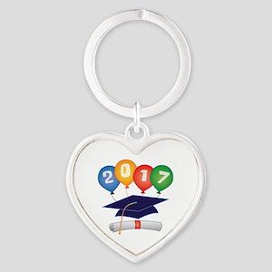 2017 Grad Heart Keychain