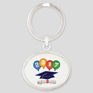 2017 Grad Oval Keychain