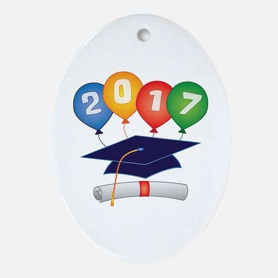 2017 Grad Ornament (Oval)