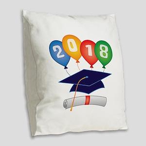 2018 Grad Burlap Throw Pillow