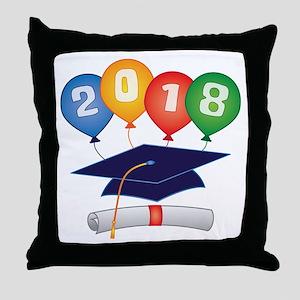 2018 Grad Throw Pillow