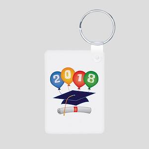 2018 Grad Aluminum Photo Keychain