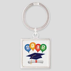 2018 Grad Square Keychain