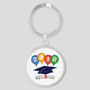 2018 Grad Round Keychain
