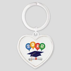 2018 Grad Heart Keychain