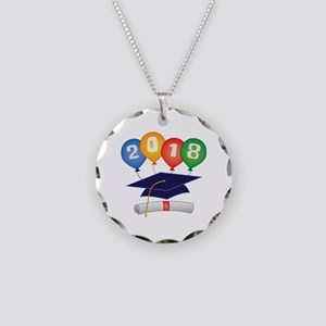2018 Grad Necklace Circle Charm