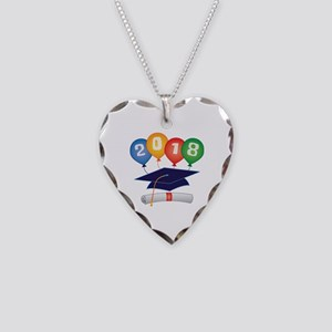 2018 Grad Necklace Heart Charm