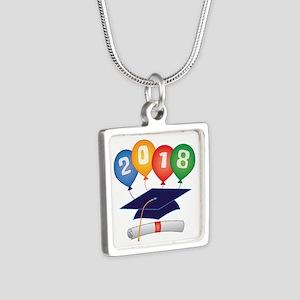 2018 Grad Silver Square Necklace