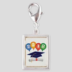 2018 Grad Silver Portrait Charm