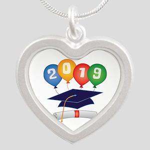 2019 Grad Silver Heart Necklace