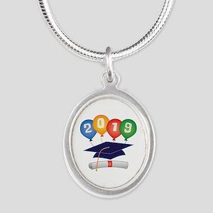 2019 Grad Silver Oval Necklace